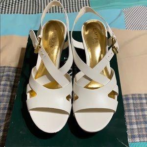 White Sandals. EUC